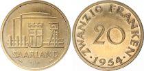 Sarre 20 Franken - 1954 - Essai