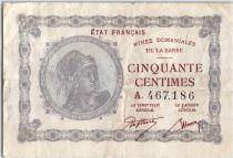 Sarre 50 Centimes Mines Dominiales de la Sarre - Type 1920 A.467.186