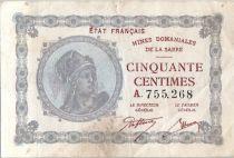 Sarre 50 Centimes Mines Dominiales de la Sarre - Type 1920 A.755.268