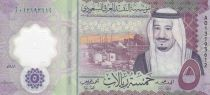 Saudi Arabia 5 Riyals,  King Salmane - 2020 - Polymer - UNC