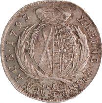 Saxe 1/3 Thaler Frédéric Auguste - Armoiries