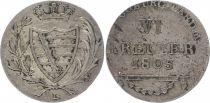 Saxe-Cobourg-Saalfeld 6 Kreuzer Arms - 1805 L