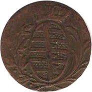Saxe-Hildburghausen 1 Heller Armoiries - 1805