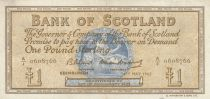 Schottland 1 Pound - 04-05-1965 -Seated woman, Ship, Thistle - Serial A/J