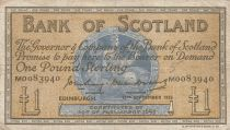 Schottland 1 Pound - 13-09-1956 -Seated woman, Ship, Thistle - Serial M