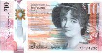 Schottland 10 Pounds Marie Somerville - Otters - Polymer - 2016