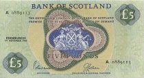 Schottland 5 Pounds Green, yellow - boat