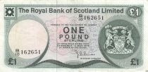 Scotland 1 Pound Arms - Edinburgh Castle - 03-05-1976 - VF