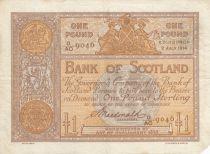 Scotland 1 Pound Bank of Scotland - 1914 - VF - P.81c