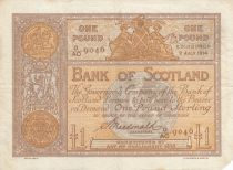Scotland 1 Pound Bank of Scotland - 1914 - VF - P.81c