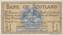 Scotland 1 Pound Bank of Scotland - 1957 - VF - P.100c