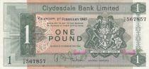 Scotland 1 Pound Cyclade Bank Limited 1965 - P.197 - VF