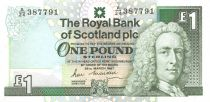 Scotland 1 Pound Lord Ilay - Edinburgh Castle - 25-03-1987 - VF+