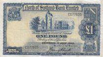 Scotland 1 Pound North of  Scotland Bank - 1940 VF - S.644 - C177635