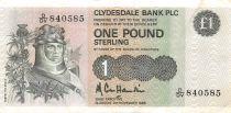 Scotland 1 Pound Robert the Bruce - Scene of Battle - 01-03-1974 - VF+