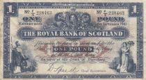 Scotland 1 Pound Royal Bank of Scotland - 1941 - aVF - P.332a