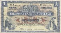 Scotland 1 Pound Royal Bank of Scotland - 1947 - VF - P.332