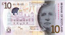 Scotland 10 Pounds Sir Walter Scott - Viaduc - Polymer - 2016