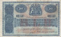Scotland 20 Pounds British Linen Bank - 1945 - Fine - P.159a