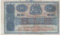 Scotland 20 Pounds British Linen Bank - 23-01-1945 - Fine - P.159a