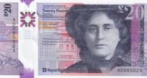 Scotland 20 Pounds Kate Cranstone - Royal Bank of Scotland- Polymer - 2019 (2020) - UNC