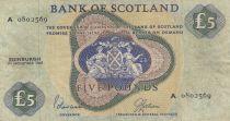 Scotland 5 Pounds Bank of Scotland - 1968 - VF - P.110a