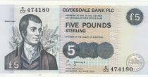 Scotland 5 Pounds Clydesdale Bank Limited 2002 - R. Burns - UNC - P.218