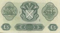 Scotland 5 Pounds Green, yellow - boat