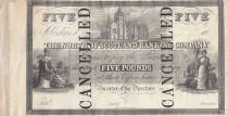 Scotland 5 Pounds North Scotland Banking Company - ND 1836 - S.612 - Rare