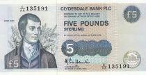 Scotland 5 Pounds Robert Burns - 1990 - P.218 a - AU