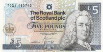 Scotland 5 Pounds Royal Bank of Scotland - Elizabeth II Golden  Jubilee - UNC - P.362