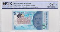 Scotland 5 Pounds Sir Walter Scott - Brig o\' Doon - Polymer - 2016 - PCGS 68 OPQ