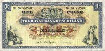 Scozia 1 Pound - Arms - Banks -  01/06/1965