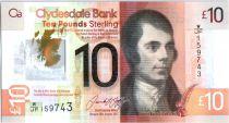 Scozia 10 Pounds Robert Burns - Edinburg - Polymer 2017
