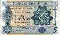Scozia 5 Pounds 1965 - Coat of arms, church