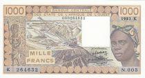 Sénégal 1000 Francs femme 1981 - Sénégal - Série N.003