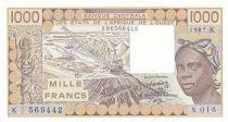 Sénégal 1000 Francs femme 1987 - Sénégal - Série X.016