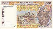 Sénégal 1000 Francs femme 1993 - Sénégal