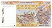 Sénégal 1000 Francs femme 1996 - Sénégal