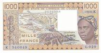 Senegal 1000 Francs woman 1988 - Sengal - Serial G.020