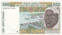 Sénégal 500 Francs homme 1993 - Sénégal
