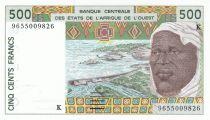 Sénégal 500 Francs homme 1996 - Sénégal
