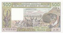 Sénégal 500 Francs zébus 1988 - Sénégal - Série Z.18