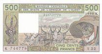 Sénégal 500 Francs zébus 1990 - Sénégal - Série T.22