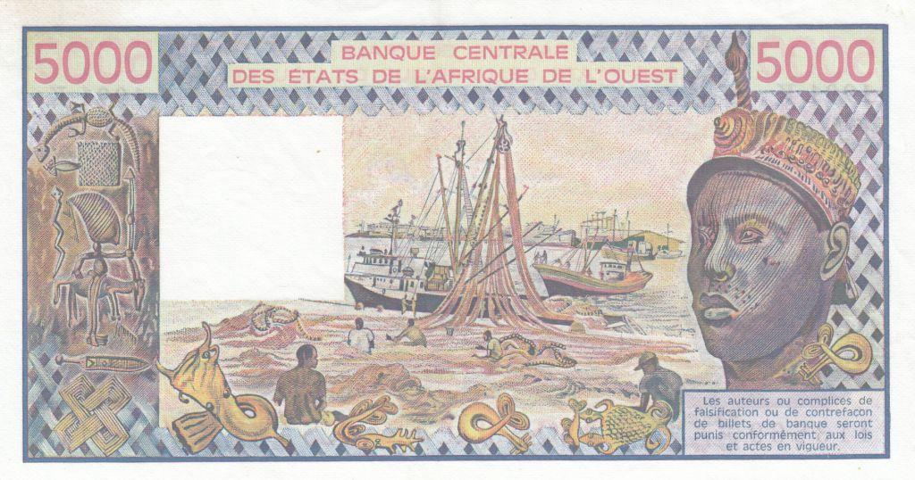 Sénégal 5000 Francs femme 1991 - Sénégal - Série A.013