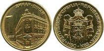 Serbia 1 Dinar Central Bank - Arms