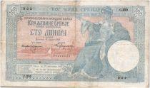 Serbie 100 Dinara Femme assise - Paysans - 05-01-1905 Série C.220