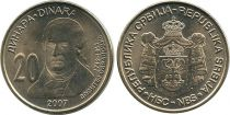 Serbie 20 Dinara Dositej Obradovic - Armoiries