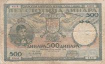 Serbien 500 Dinara 1935 - Child, group of peasant Women - Serial B