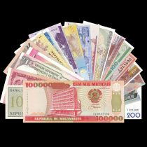 Set of 20 differents banknotes - 20 Countries - UNC